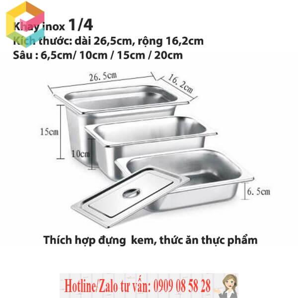 cung cap khay inox dung thach
