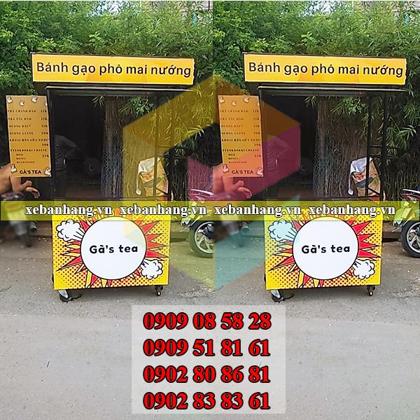 dat lam xe ban banh gao pho mai nuong